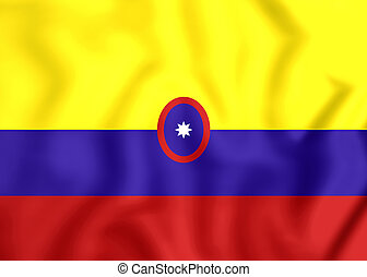 Civil Ensign of Colombia - 3D Civil Ensign of Colombia....