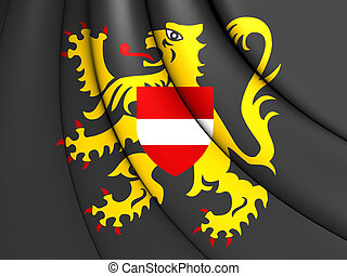 Flag of Flemish Brabant, Belgium - 3D Flag of Flemish...