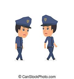 triste, e, frustrado, personagem, constabulary, vai, e,...
