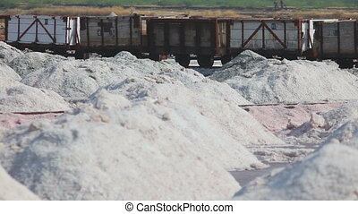 Salt mining in Sambhar, accident - train derails - Freight...