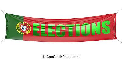概念, 旗幟, 選舉, 葡萄牙
