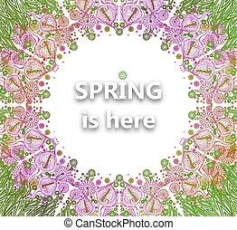 Floral background spring vector illustration. EPS10.