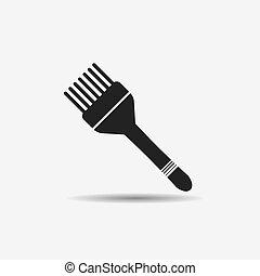 brush hair dye black icon - hair brush for hair dye and hair...