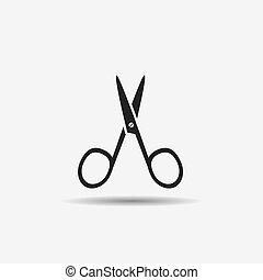 manicure scissors for nail black icon