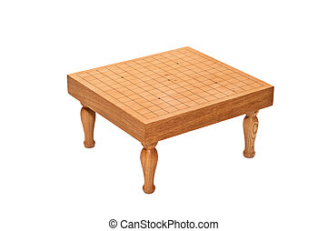 Table for boardgame quot;Goquot; - Empty wooden table for...