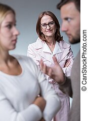Intrusive mother-in-law - Image of intrusive and jealous...