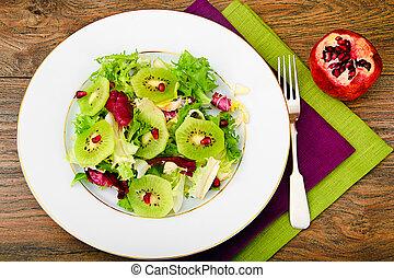Salad Mix Batavian, Frise, Radicchio, Chicory, Kiwi and...