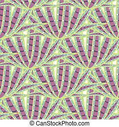 Agave succulent desert seamless pattern. Green and purple...