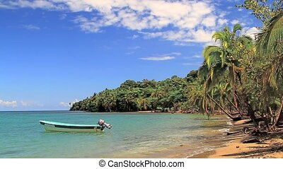 fishing boat in paradise,Costa Rica