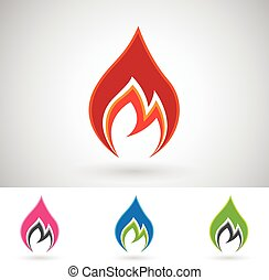 Colorful Fire Icons