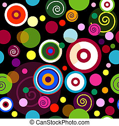 Abstract seamless pattern with balls - Abstract seamless...