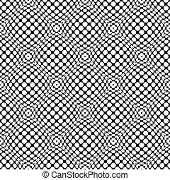 Circles with 3d convex, bulging distortion effect. Abstract monochrome background, pattern. Seamlessly repeatable.