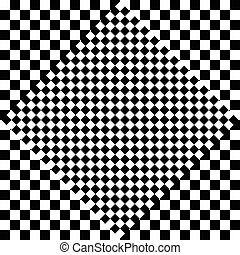 Contrasty checkered background Abstract, surreal texture...
