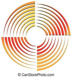 Abstract circular shape, rotating element Vector...