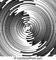 Concentric circles abstract element Radiating, radial...