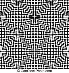 Abstract checkered seamless pattern with 3d salient,...