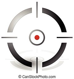 Crosshair, cross-hair, target mark vector icon precision,...