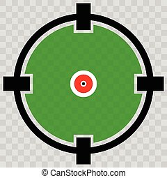 Cross hair, target mark, Circular reticle vector...