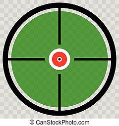 Cross hair, target mark, Circular reticle vector...
