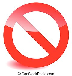 Prohibition, restriction sign vector for limit, stop,...