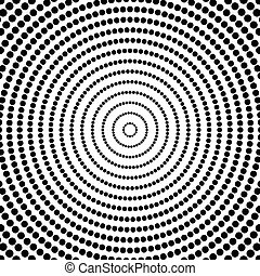 Abstract dots Circular, radiating dotted pattern Concentric...