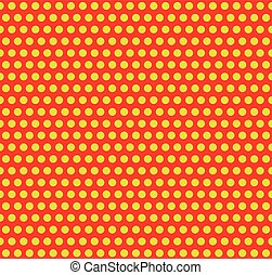 Dotted pop-art, polka dot background Yellow, red repeatable...