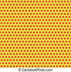Dotted pop-art, polka dot background. Yellow, red repeatable...
