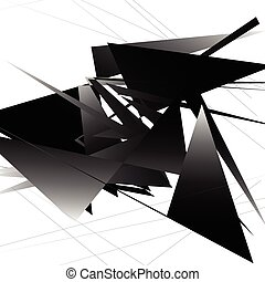 Abstract monochrome pattern / texture with edgy, overlapping rectangular shapes.