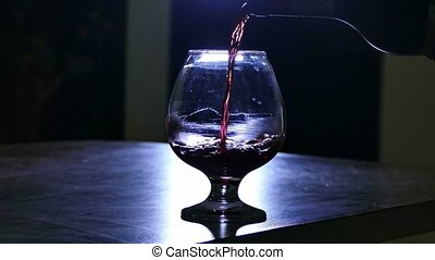 red wine poured into a glass - red wine poured into a glass