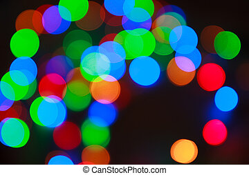 Light bokeh, defocused abstract background - Light dots...