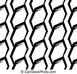 Seamless monochrome pattern, background. Editable vector art.