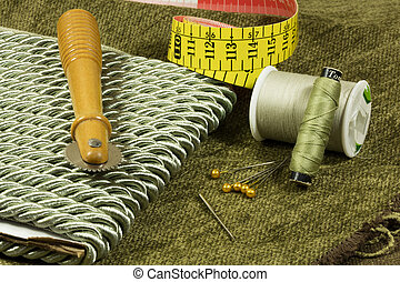 Sewing Accessories - Sewing accessories and material for a...