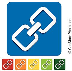 Chain, chain link icon in several colors