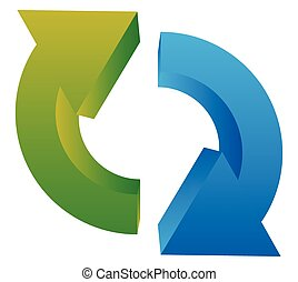 Circular arrow icon Two curved arrows pointing against each...