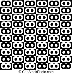 Abstract monochrome pattern, background with connected...