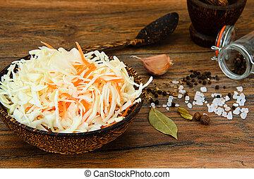 Sauerkraut, Carrot, Salt, Water, Sugar, Garlic, Fennel...