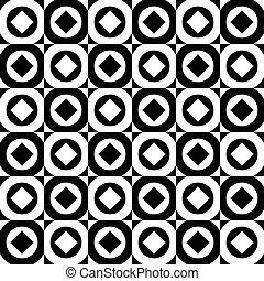 Abstract monochrome background, pattern with circles and...