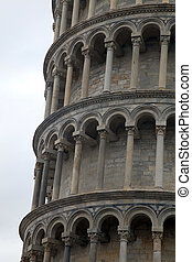Leaning Tower of Pisa, Italy - Fragment of famous Leaning...