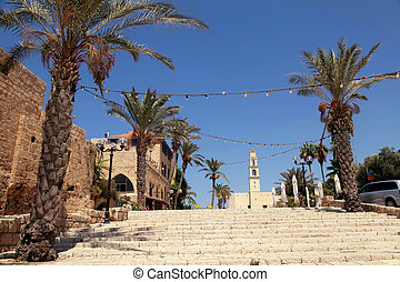 The old port city of Jaffa in Tel Aviv, Israel