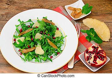 Salad Mix Batavian, Frise, Radicchio, Chicory, Cranberry,...