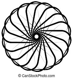 Abstract circular, spiral element on white Vector