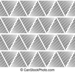 Slanting lines clipped in triangles Seamlessly repeatable...