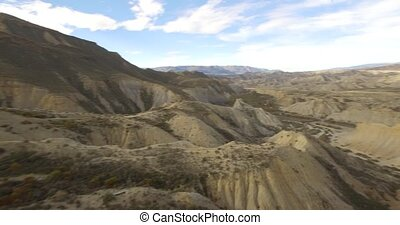 Aerial View in the desert - Sierra Alhamila Desierto De...