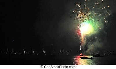 Fireworks in Miami two - Fireworks in Miami on New Year's...