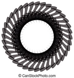 Abstract spiral, twirl element isolated on white Abstract...