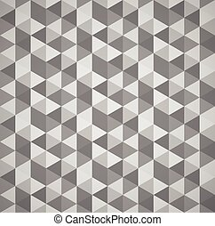 Grayscale mosaic, tessellation background with triangles...