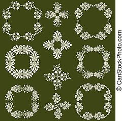 Wildflower Decorative Frames - A set of floral decorative...