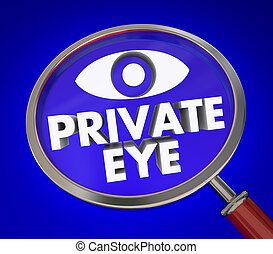Private Eye Magnifying Glass Investigator Search for Clues -...