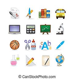 school icon set Vector illustration