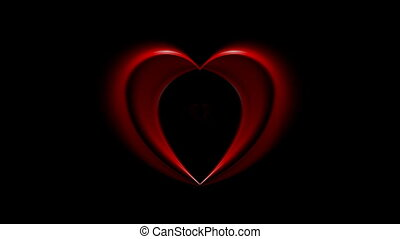 Bright red hearts video animation - Bright red hearts...